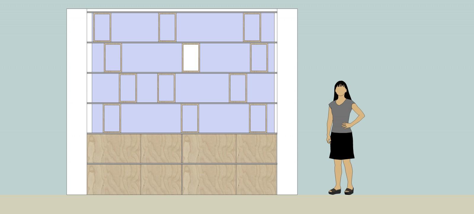 lijnenmodel vooraanzicht ontwerp Deuvel Design