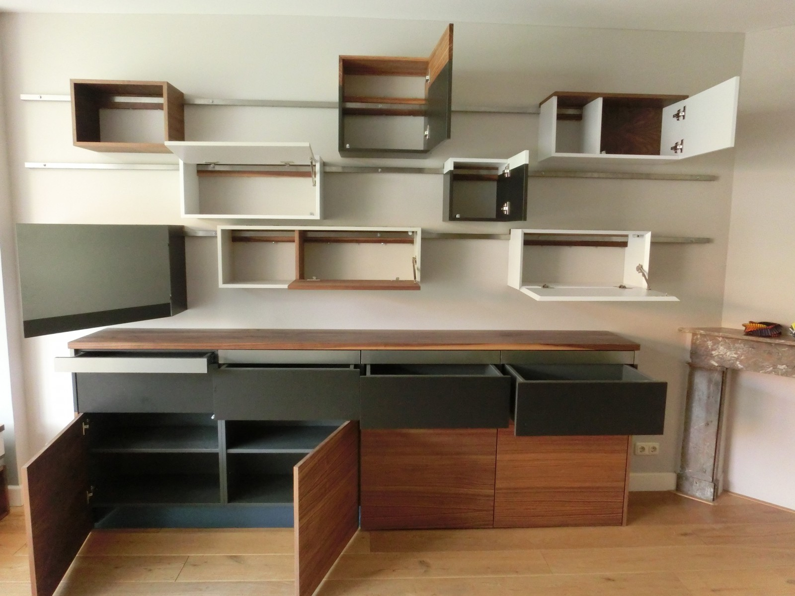 custom made cupboards in Voorburg - design and fabrication by Deuvel Design